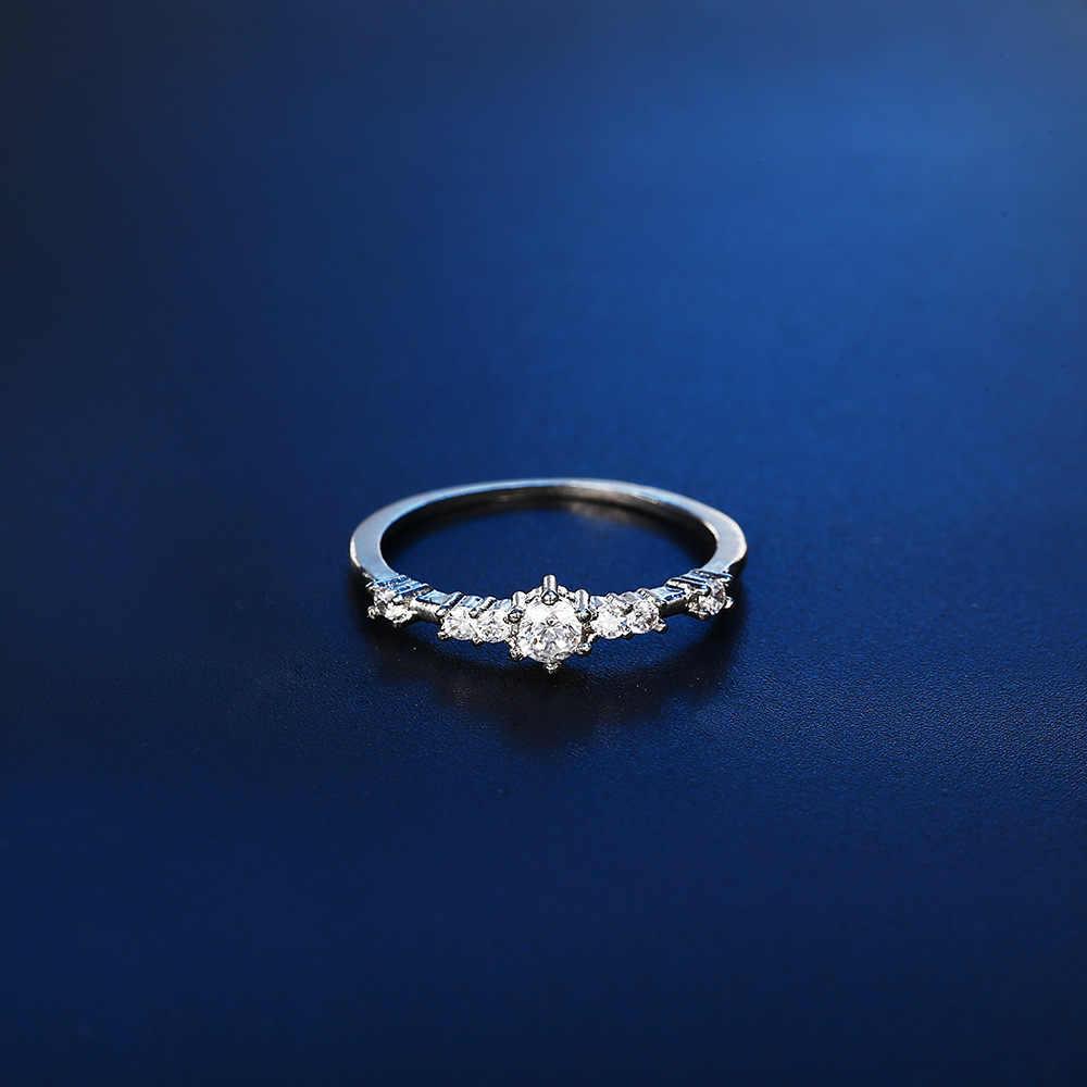 Moda moda feminina anel dedo jóias rosa ouro/tira/ouro cor strass cristal anéis 4/5/6/7/8/9/10/11 tamanho