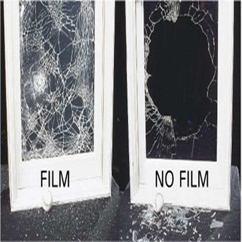 4mil 100 см широкая безопасная и безопасная прозрачная оконная пленка, небьющаяся для окон, стекла, общественных мест, защитная пленка raamfolie - 3