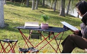 Image 3 - Hot Koop L Size Portable Opvouwbaar Opvouwbare Tafel Bureau Camping Outdoor Picknick Aluminium Ultra Licht