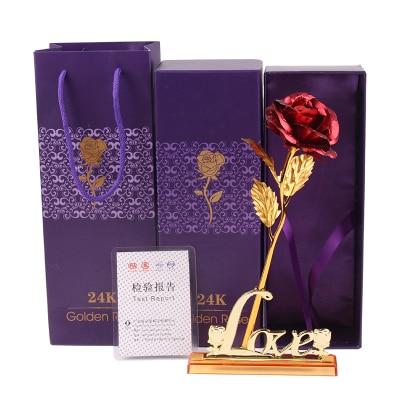 Valentine'i kingitus, 24k kuldne roosi väljavalitu lill + armastuse - Pühad ja peod - Foto 6