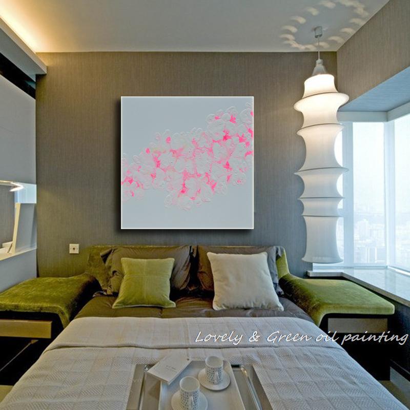 Ручная работа,, лаконичный Настенный декор, высокое качество, домашний декор, современный абстрактный цветок, картина маслом на холсте для гостиной