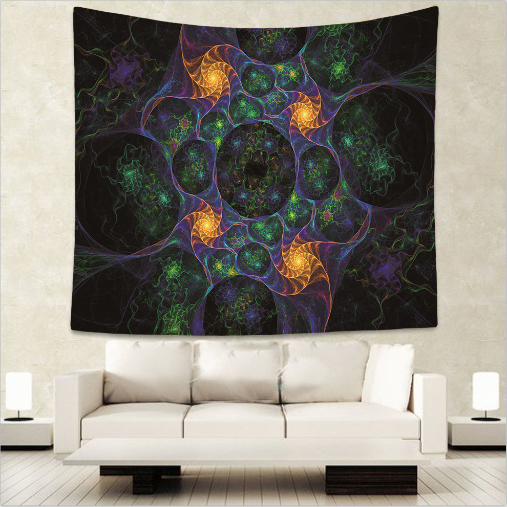 Geometry Lotus Leaf Tapestry Pattern Wall Hanging Mandala Bohemian Decor Blanket Love Rectangle Polyester Dropship Best Selling in Tapestry from Home Garden