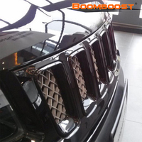 Vent Outlet Hole Cover Trim 7pcsLot Net Frame Fit for Jeep Compass 2011 2012 2013 2014 2015 2016 New Black Front Center Grille
