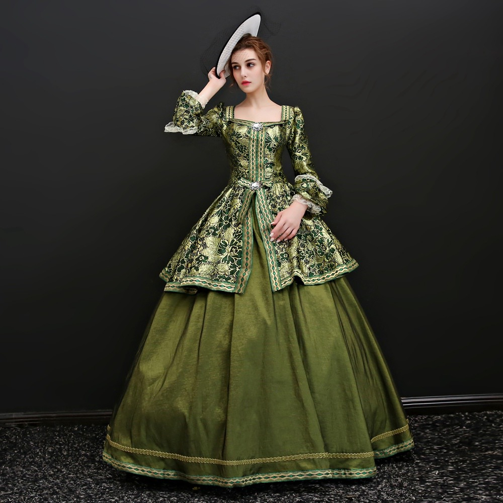 CEEWHY Green Vintage Court Evening Dress Long Sleeve Turkey Saudi Arabia Evening  Gowns Floral Prom Dresses Abiye Gece Elbisesi 152076b3e281
