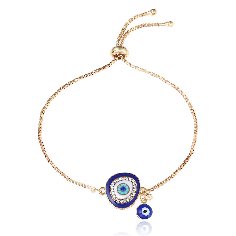 Us 1 65 30 Off Re Turkish Lucky Blue Crystal Evil Eye Bracelets For Women Handmade Gold Chains Hand Jewelry Bracelet Female Gift S1035 In