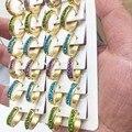 Hot Crystal Gold plated Hoop Earrings for Women Fashion Luxury Pendiente Rhinestone colorful stone Fashion Jewelry Bijuteria