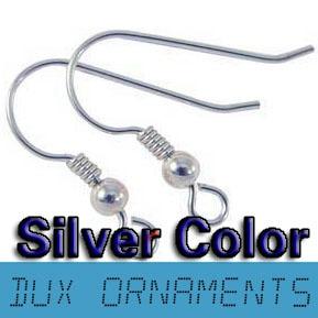 Sieraden Earring Bevindingen Zwart Pistool Vergulde Haakbrons