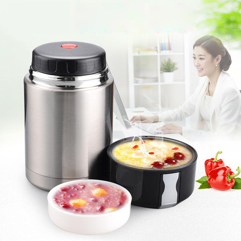 Large Capacity 800ML&1000ML Insulated Cup Vacuum Flasks & Thermoses Thermocup Lunch Thermos Food With Containers Thermo Pot Box