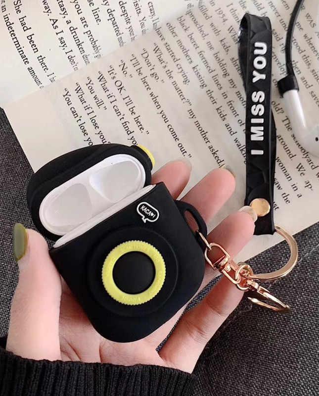 Airpods Bluetooth ワイヤレスケースシリコーン耐衝撃ケースのため Airpods2 とロープカバー用ポッド Hearphone バッグ