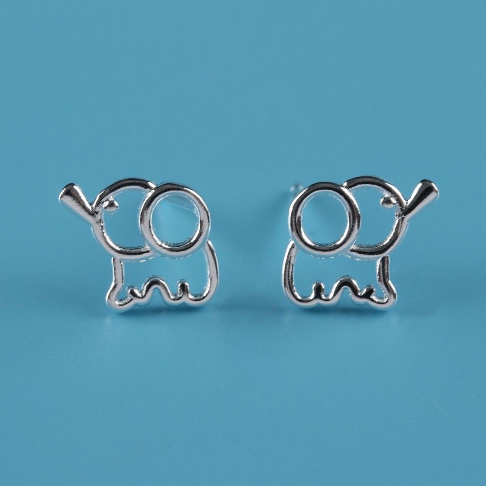 1 Pair Cute Girls Women Children Silver Plated Jewelry Wire Drawing ...