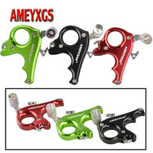 1pc Archery 3 Finger Release Compound Bow Aid Aluminum Alloy Grip Trigger Caliper For Hunting Shooting Accessories