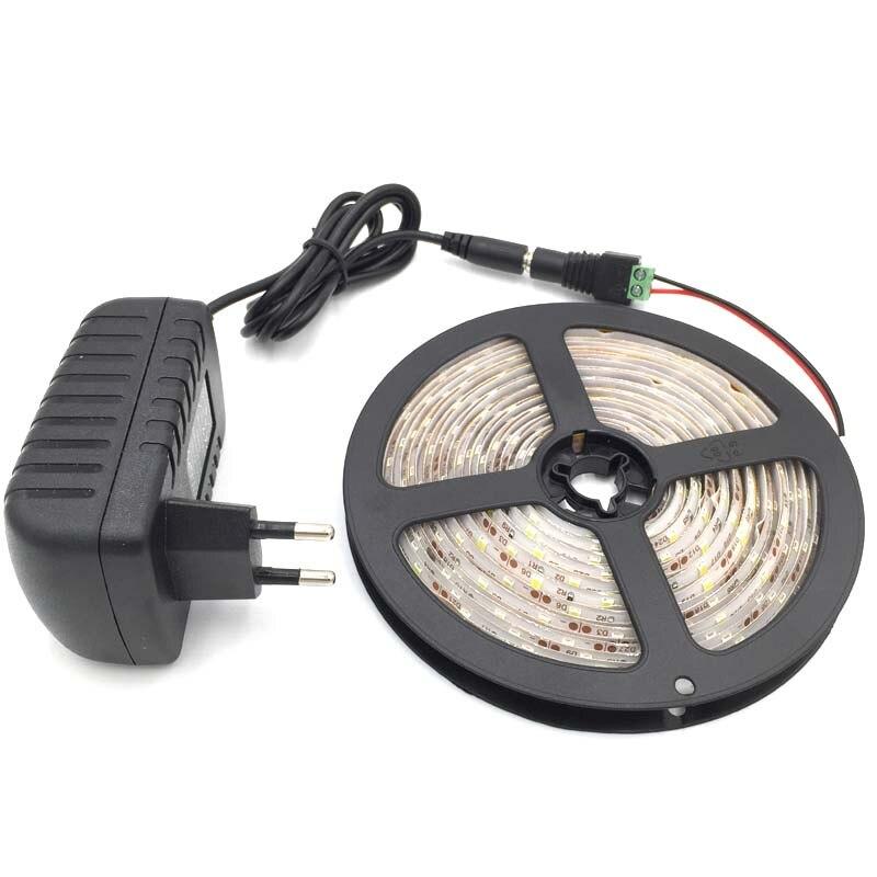 Étanche LED Bande 300 led 5 m 2835 BLANC CHAUD BLANC ROUGE JAUNE VERT BLEU led + 12v2a adaptateur UE US UA PLUG led lumière