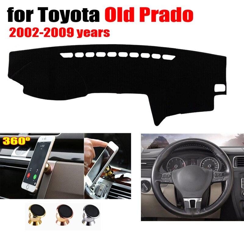 Крышка приборной панели автомобиля для Toyota old Prado 2002 2009 левый привод добавить 38 см Кожаный чехол на руль и держатель телефона