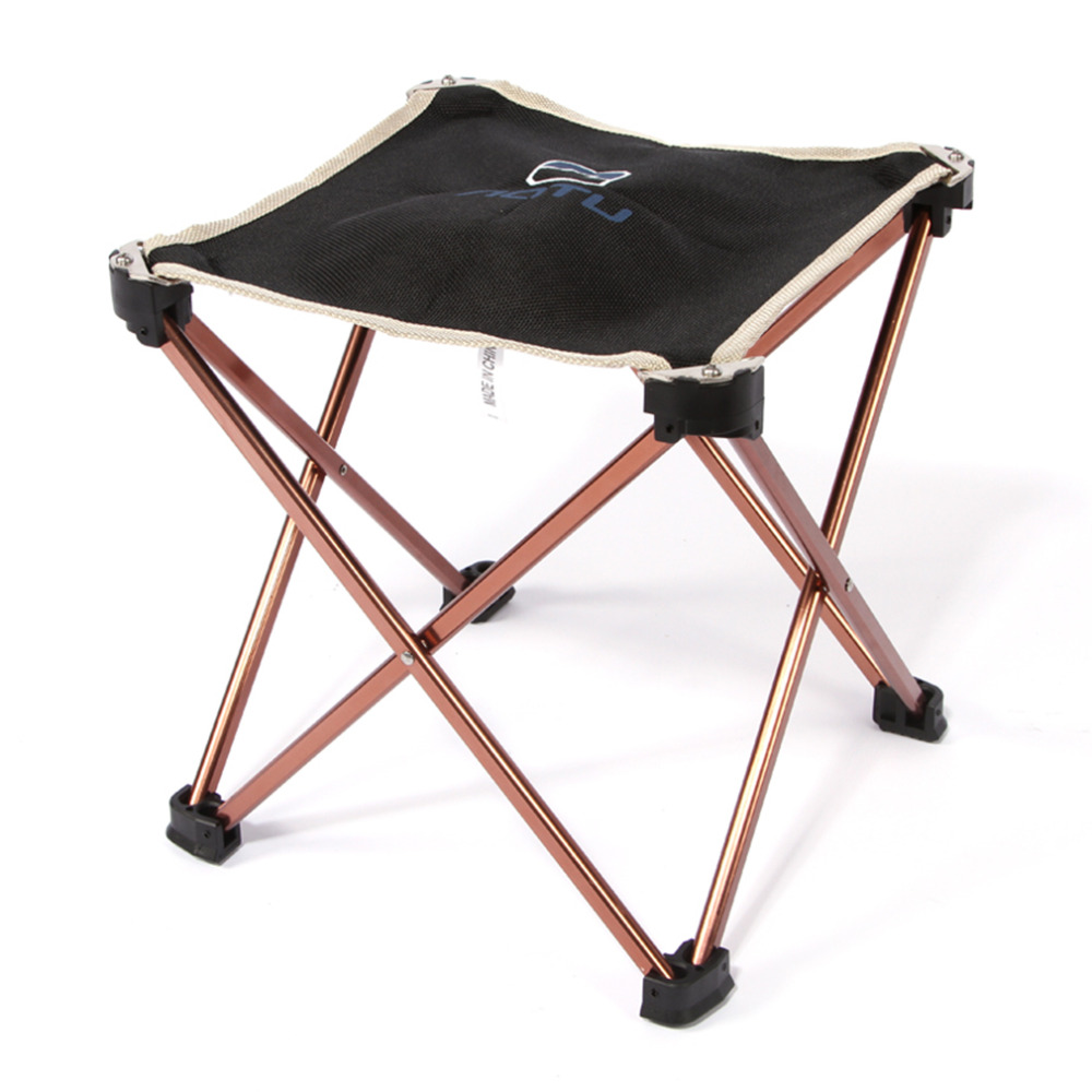 Outdoor Foldable Folding Fishing Picnic BBQ Garden Chair Tool Square Camping Stool 7075 Aluminium Alloy Hot Sale