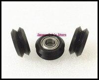 10pcs Lot BW25 5mm W V Groove Bearing Openbuilds For 3D Printer Nylon Wheel Ball Bearing