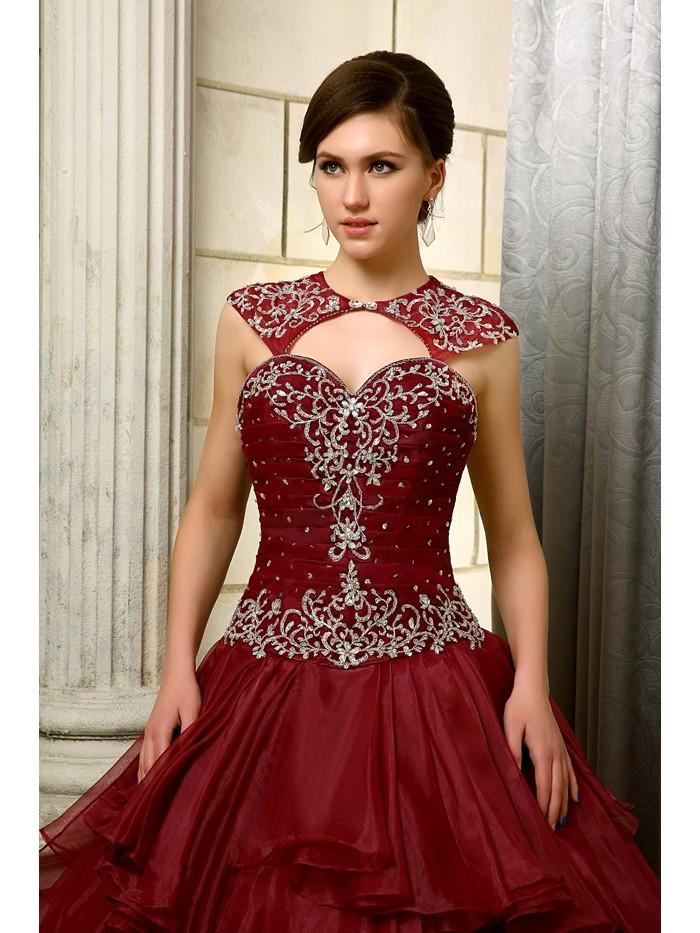 2016-Big-Ball-Gown-Gowns-Burgundy-Long-Floor-Length-Sleeveless-Beaded-Organza-Corset-Sweet-16-Quinceanera (2)
