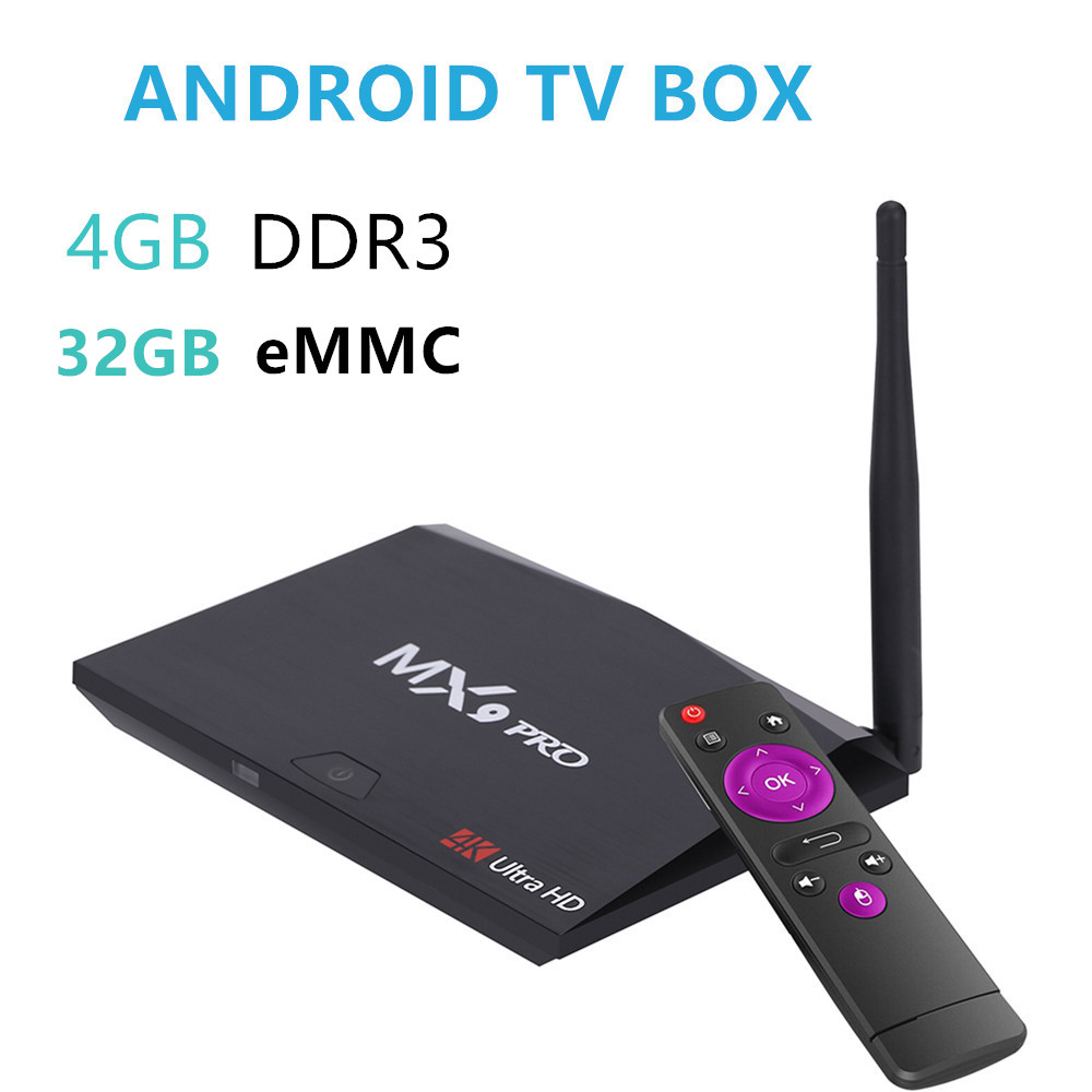 10pcs MX9 Pro 4GB RAM 32GB ROM Smart Android 8.1 TV Box RK3328 Quad Core 2.4G5G Dual WiFi BT4.1 MINI PC VP9 4K Media Player