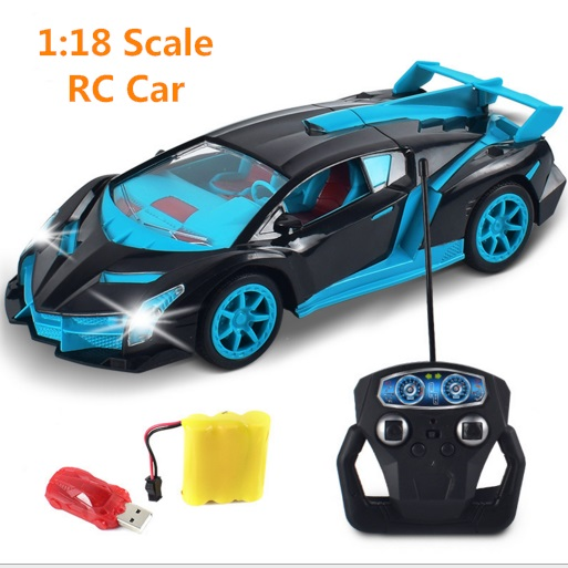 Remote Control Cars >> Us 17 79 49 Off 1 18 Drift Speed King Radio 4 Channel Remote Control Cars With Magical Light Rc Sport Racing Car Self Control Best Game Toys In Rc