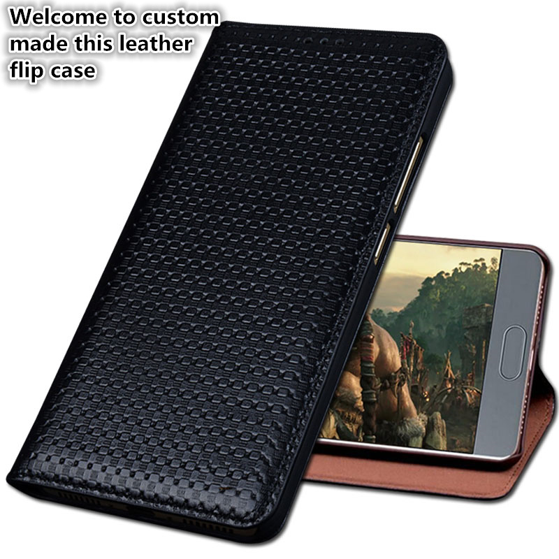 HY02 Luxury Genuine Leather Flip Coque Cover For font b OnePlus b font font b 7