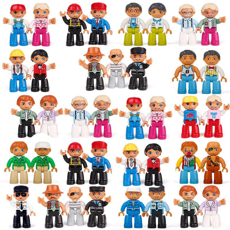 شخصيات الأكشن الأعلى مبيعًا كتل متوافقة مع شخصيات legoing dueo مكعبات بناء على شكل قطار حيوانات ألعاب تعليمية للأطفال