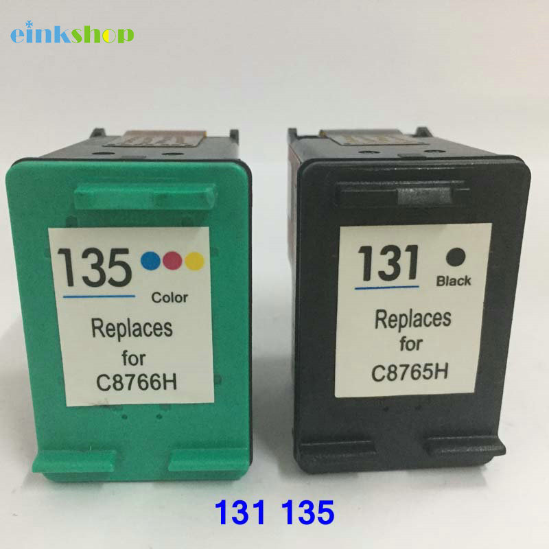 Einkshop compatible for HP 131 135 Ink Cartridge for HP Deskjet 460 5743 5940 6940 2710 2610 Photosmart 2573 2613 8753 PSC 1600