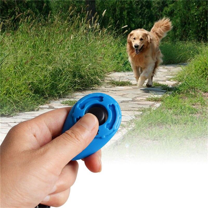 1 Pc Pet Trainer Hond Opleiding Hond Clicker Verstelbare Sound Sleutelhanger En Polsband Doggy Trein Klik Hond Levert