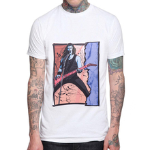 Men T Shirt Rock and Roll Band Singer Short Sleeve T-Shirt Man White O-Neck Print Graphic Tees Shirts Mens Punk Tops Clothing