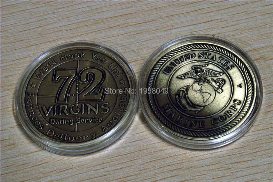 72 Virgins dating service patch