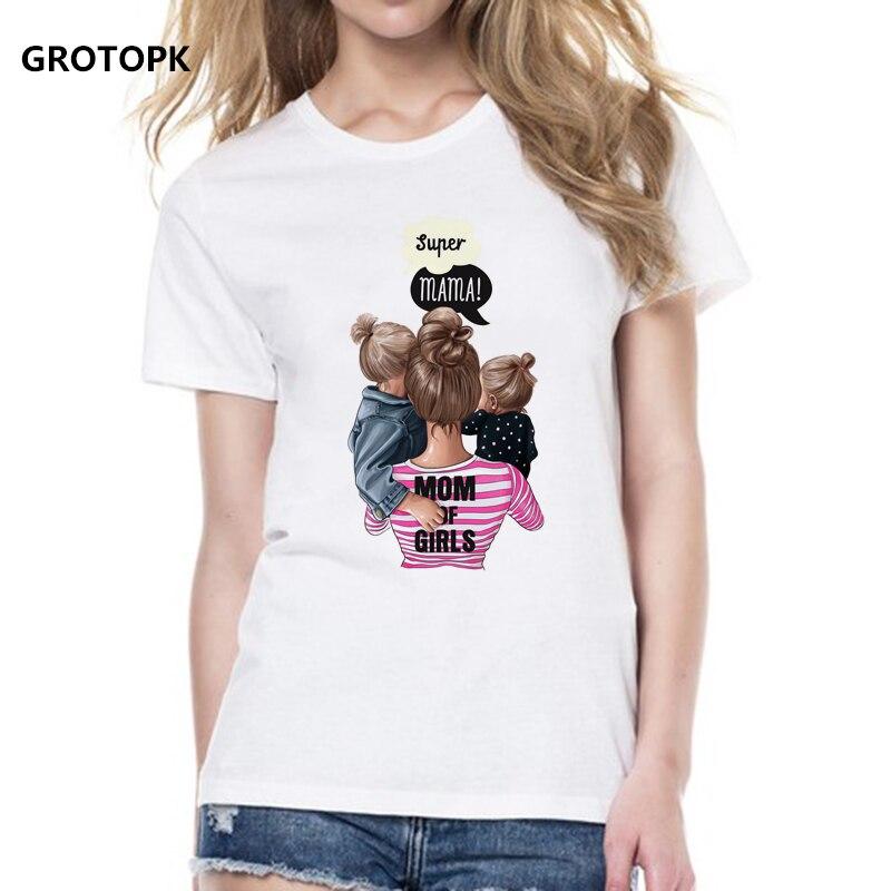 Mommy's Love Female T-shirt Super Mama Tee Shirt Women's Clothing 2019 Vogue Print T Shirt Female Tshirt Cotton Short Sleeve Top