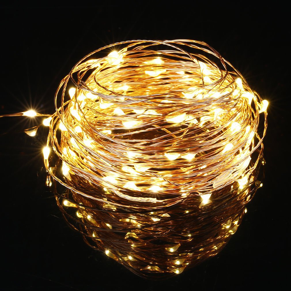 50/100 LED Battery Wire Copper Fairy String Lights Party Decorational Lights Warm White/Colorful Environmental Drop Shipping
