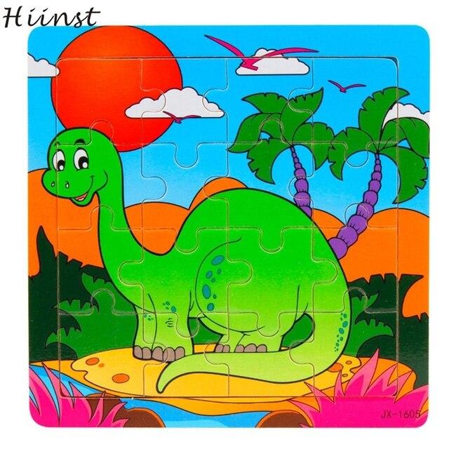 HIINST Best seller Crianças Pedaço dragão De Madeira Jigsaw Puzzles Brinquedos Brinquedos Para Crianças de Aprendizagem atacado S15