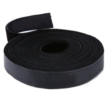 Long Fastening Tape 2cm One Wrap Hook & Loop Fastening Tape Cable Ties 5M Black