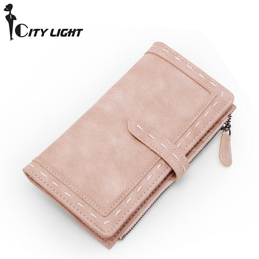 CITY LIGHT Women wallet fashion women' s long style thin hasp wallets purse multi-function fresh clutch carteira демисезонные ботинки clarks 15 marcos edge