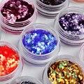 12 Цветов/комплект Nail Art Блеск Акриловые 3D Ромб Блеск Форма Блестки Порошок Комплект для Ногтей Украшения M01213