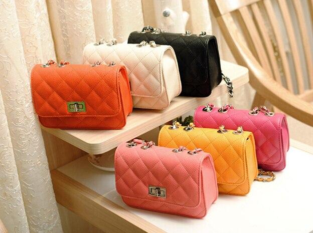 Quality PU leather women bag 2016 summer fashion handbags chain stereotypes shoulder Messenger bag lozenge satchel small plaid стоимость
