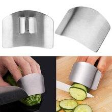 Серебряная Защита Пальцев, защита пальцев, ручная резка, защита для рук, нож, инструмент для защиты пальцев, кухонный инструмент из нержавеющей стали