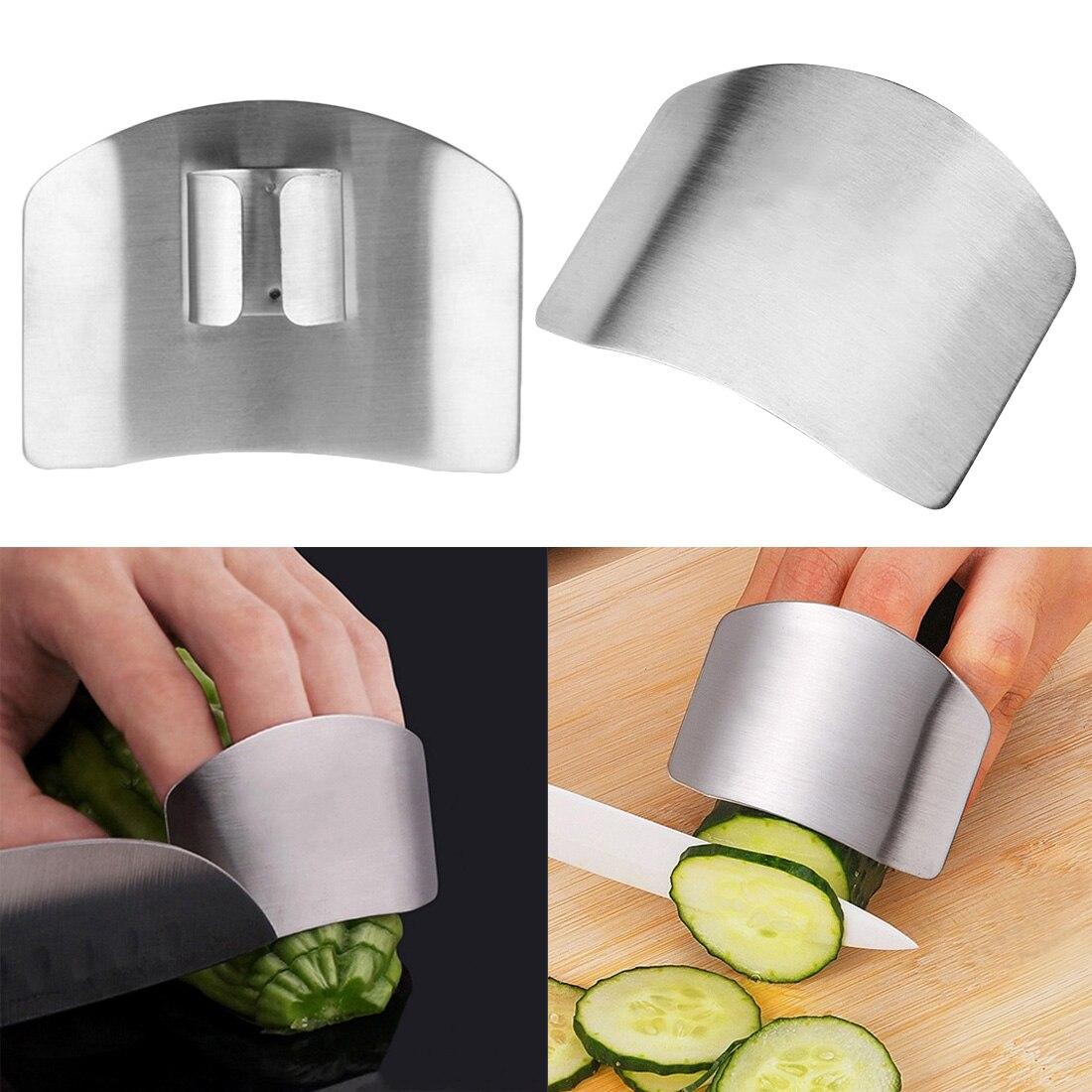 Серебряная Защита для пальцев, защита для рук, защита для рук, нож, инструмент для защиты пальцев, кухонный инструмент из нержавеющей стали
