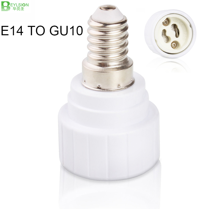 E14 to GU10 Lamp Holder Converters Lamp Base Converters LED Light Bulb Adapter Converter Holder LED Lights parts accessories Under-cabinet lighting