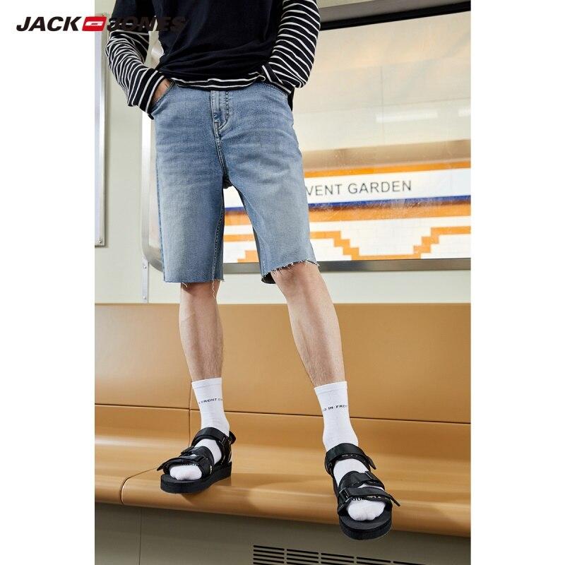 JackJones Men's Cotton Washed Finish Knee-high Denim Shorts Basic|219243503