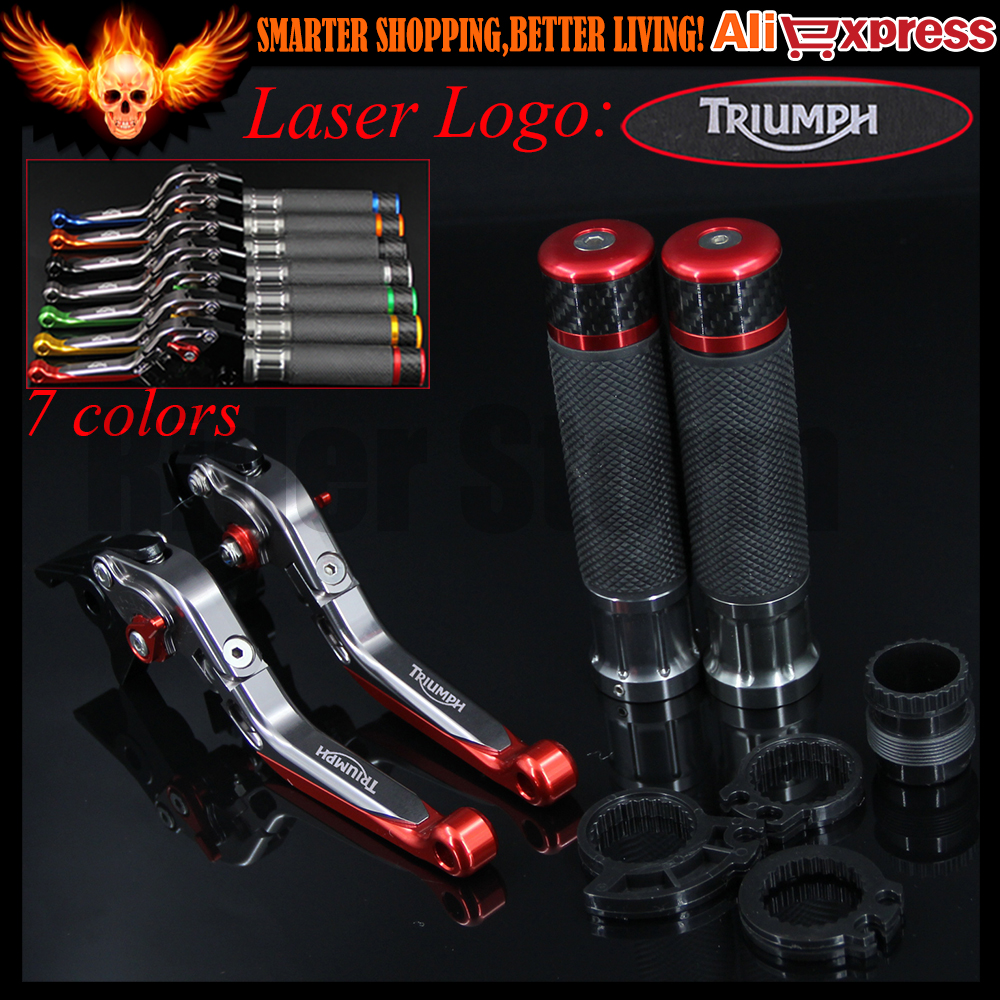 ФОТО CNC Motorcycle Brake Clutch Levers&Handlebar Hand Grips For Triumph TIGER 1050/Sport 2007 2008 2009 2010 2011 2012 2013 20142015