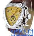 Yellow Triangle Auto Mechanical Watch Men 6-hands NEW
