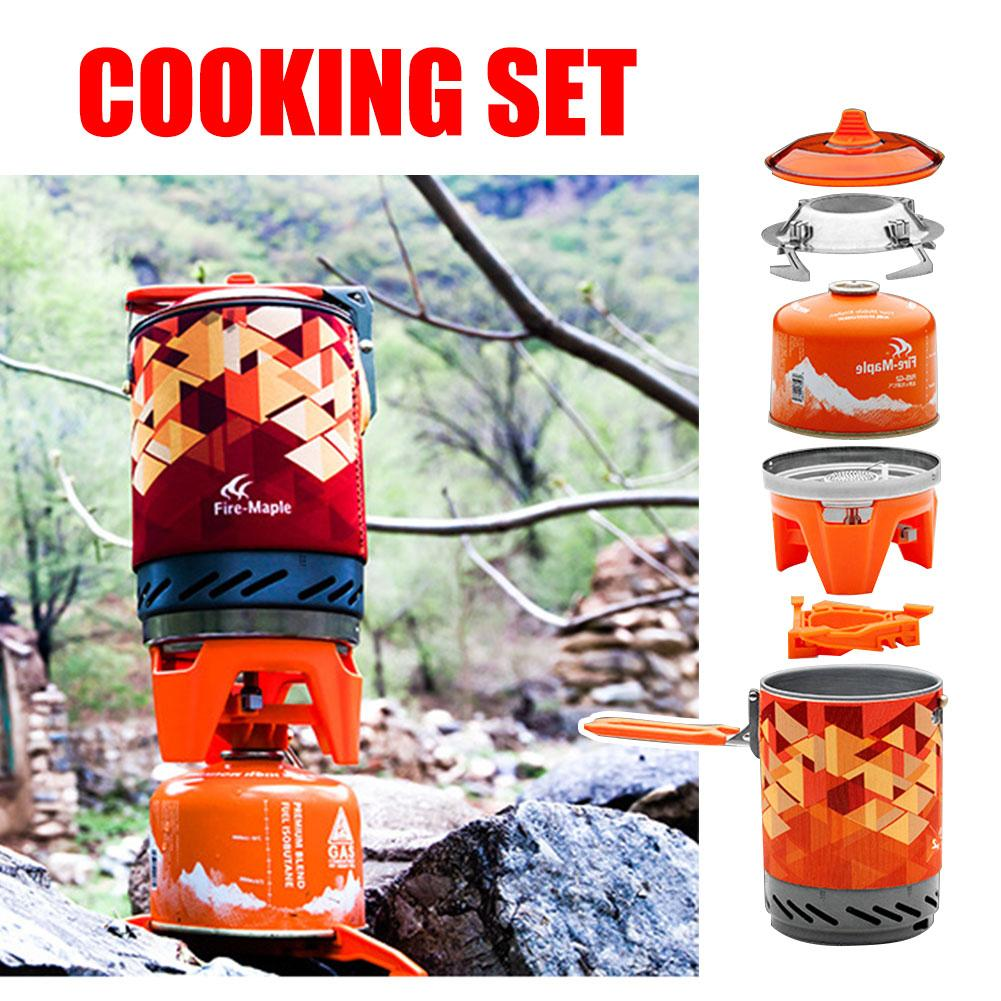 1 Set Outdoor Gas Stove Oven Cooking Burner Hiking Camping Propane Gas Stove Cooker Portable Adapter Outdoor Stove green portable solar oven bag cooker sun outdoor camping travel emergency tool for cooking solar oven bag mayitr