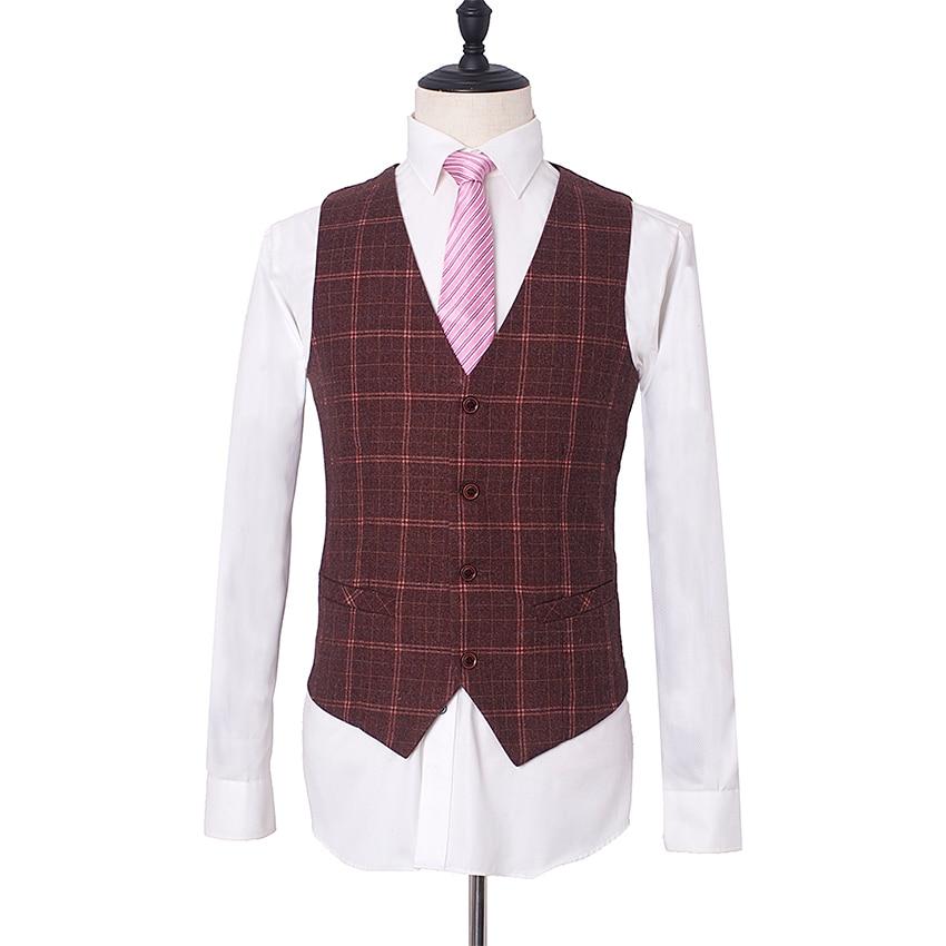 veste Costumes Gilet Trois Picture Formelle Boutique As Mariage Nouvelle Mâle Robe Plaid Laine Picture D'affaires 2019 pièce as Pantalon De Mode Hommes rrwnxA