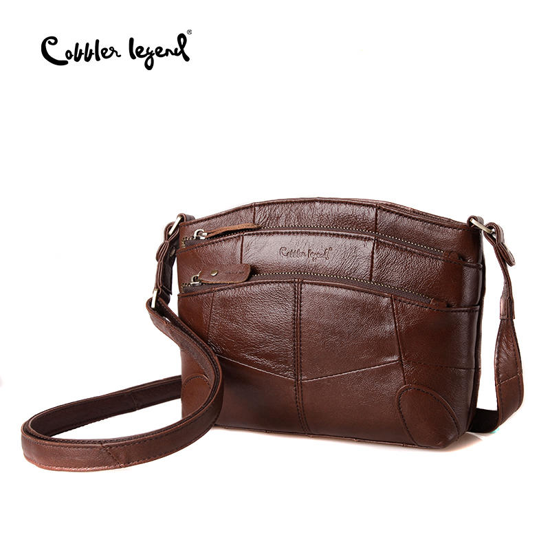 Cobbler Legend Vintage Genuine Leather Bag Female Small Women Handbags Bags For Women 2018 Multi Pockets Shoulder Crossbody Bag