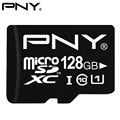PNY Original TF Micro SD Card Class 10 Micro SDXC SDHC UHS-1 U1 128GB 64GB 32GB 16GB 8GB Flash Memory Card 90MB/S Performance