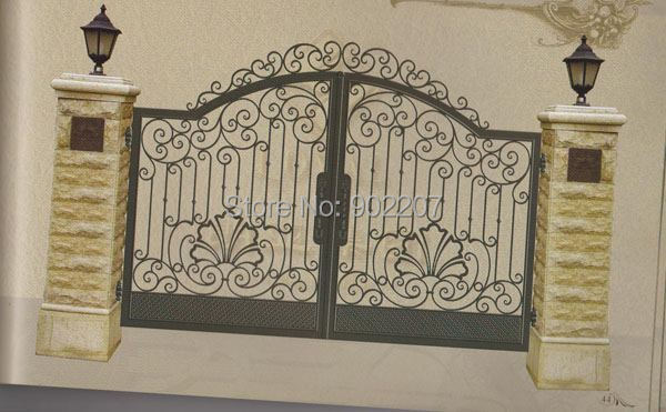 Henchuang Wrought Iron Gate Forged Gates Villa Steel Metal Designs