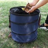 Garden Organic Waste Bucket Foldable Oxford Grow Bag Planter Waterproof Storage Basket Compost Bag Garden Supplies 47x50cm