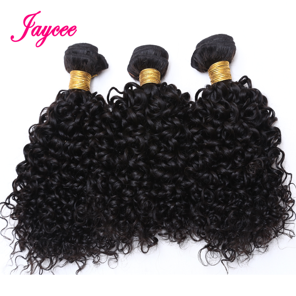 Hair-Extension Weave Human-Hair-Bundles Curly Mongolian Natural-Color 3pcs Cheveux Kinky title=