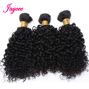 Hair-Extension Weave Human-Hair-Bundles Curly Kinky Mongolian Natural-Color Tissage 3pcs