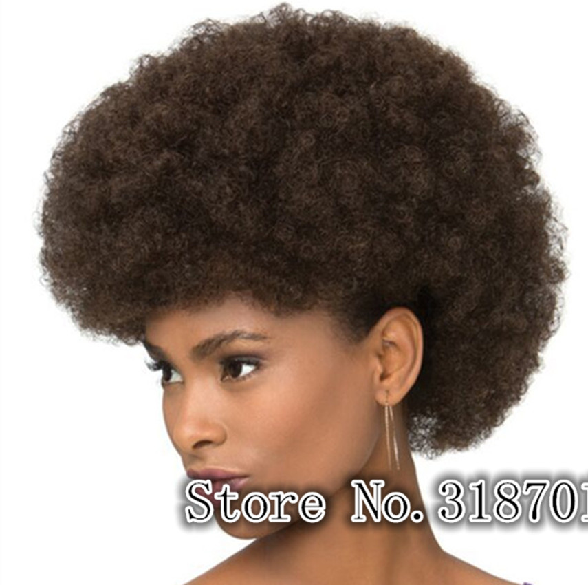 Aliexpresscom  Buy Dark Brown Colour African Afro Wigs For Black Men Or Women Free -5274